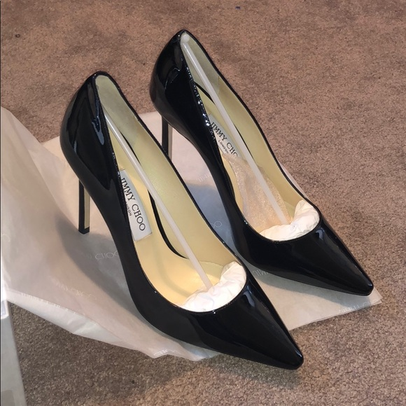 Jimmy Choo Shoes - Jimmy Choo ROMY 100 black Patent Pumps BNIB